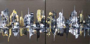 City Abstraction 100-101 Casuccio 12x24